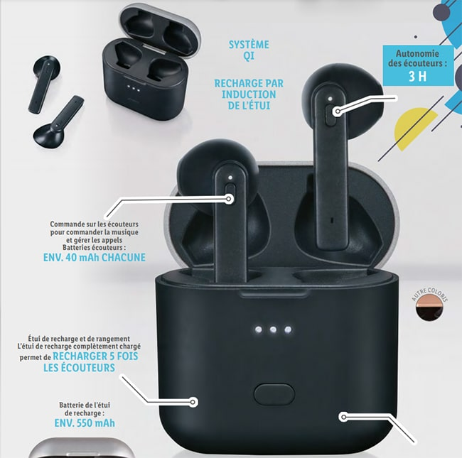 Ecouteurs Bluetooth SilverCrest à petit prix chez Lidl