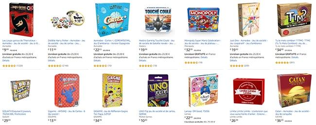 Obtenez 3 jeux de société pour le prix de 2 grâce à la promo d'Amazon