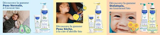 Testez gratuitement la routine de soins Mustela aux ingrédients BIO