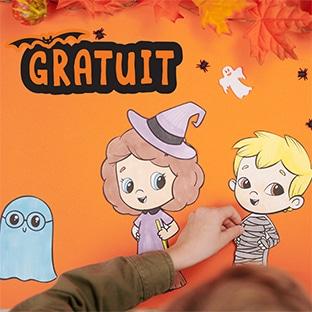Hourra Héros : Coloriages personnalisés Halloween gratuits