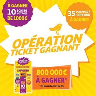 Opération ticket gagnant Auchan : Jeu Le Meilleur 2020