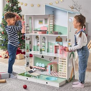 Lidl : Maison de poupée XXL en bois pas chère