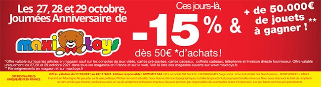 Promotions jouets Maxitoys Noël 2021