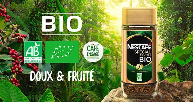 Testez gratuitement le café instantané Nescafé Spécial Filtre Bio aux arômes doux et fruités