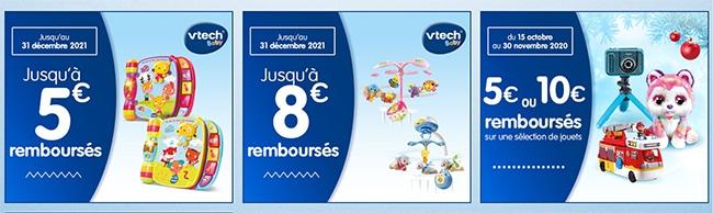 offres de remboursement sur www.vtech-jouets.com/promotions ?
