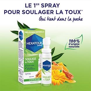 Hexatoux Spray gratuit car 100% remboursé avec Shopmium