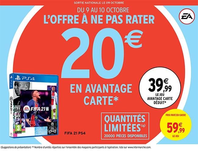 Bénéficier d'une remise fidélité pour obtenir le jeu FIFA21 moins cher