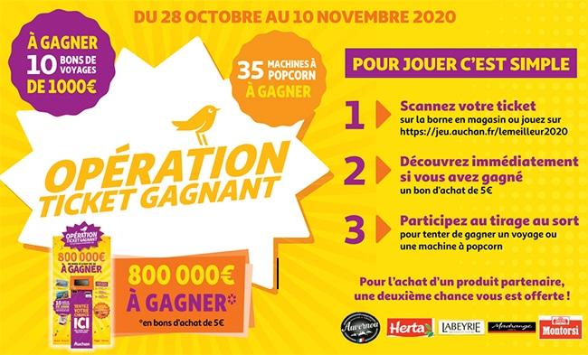 """jeu """"Le Meilleur 2020 d'Auchan"""" en magasin"""