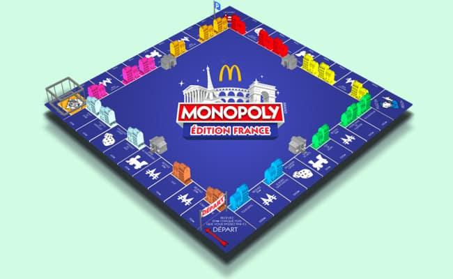 Plateau Monopoly virtuel de McDonald's