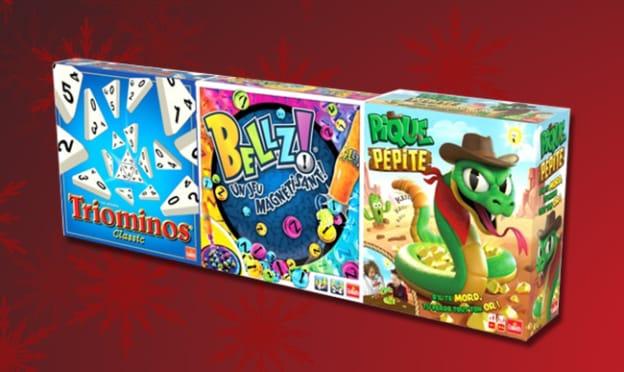 Promo catalogue Noël King Jouet : 3 jeux Goliath pour 19,99€