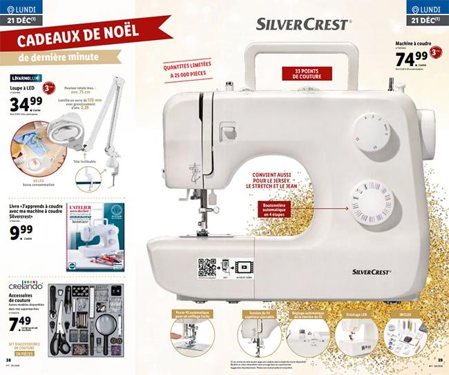 Machine à coudre SilverCrest à petit prix