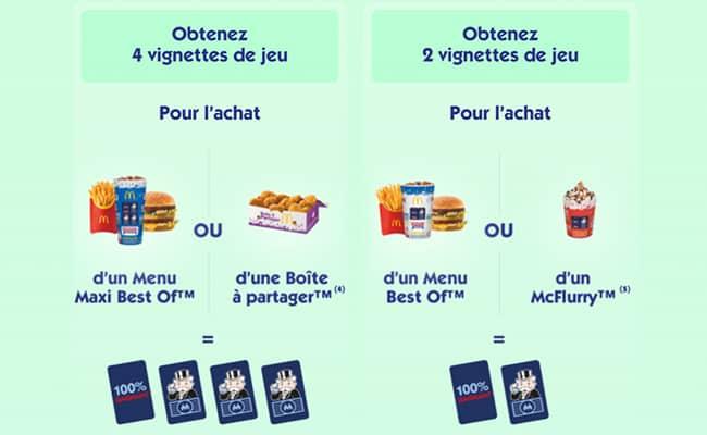Les vignettes offertes du jeu Monopoly 2021 by McDonald's