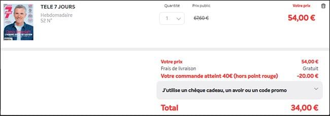 Bon plan programme TV : Télé7jours en promotion à 26€
