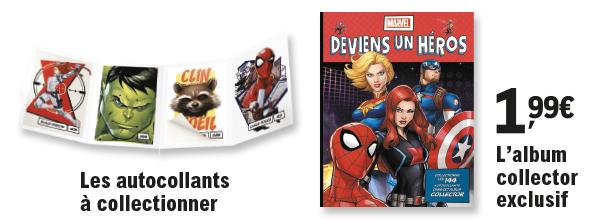 Collectionner les stickers Marvel chez E.Leclerc