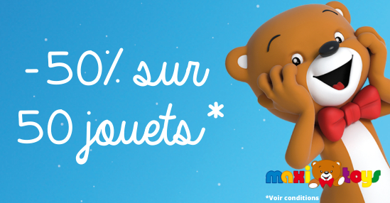 Black Friday Maxi Toys Jouets à 50 Réduction Immédiate