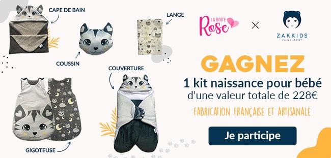 Tentez de remporter un kit bébé Zakkids avec La Boîte Rose