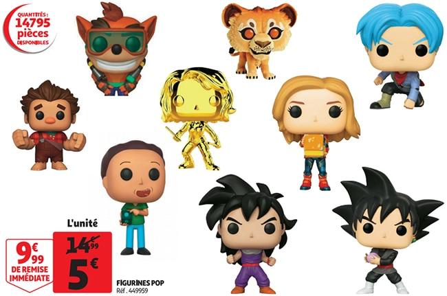 Figurines Funko POP moins chères chez Auchan