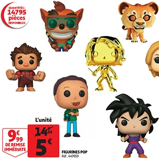 Bon plan promo Auchan : Figurines Funko POP à 5€