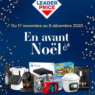 Jeu En avant Noël Leader Price : cadeaux à gagner