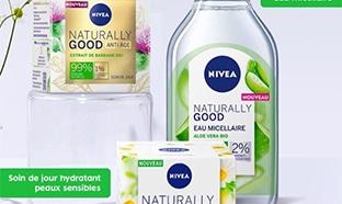 Jeu Nivea : kits de soins Naturally Good à gagner