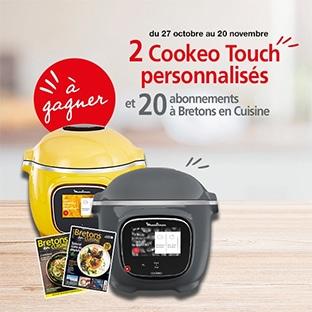 Jeu Ouest-France : Cookeo Touch et abonnement Bretons en Cuisine à gagner