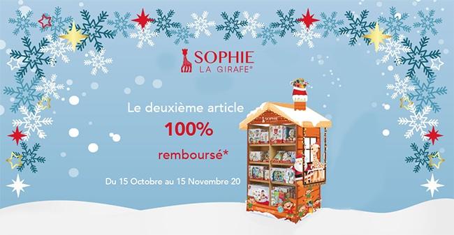 Obtenez un jouet Sophie la Girafe 100% remboursé pour 2 produits achetés