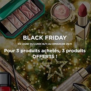 Black Friday Kiko : 3 produits achetés = 3 offerts