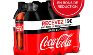 ODR Coca-Cola : 15€ en bons de réduction