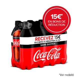 ODR Coca-Cola : 15€ en bons de réduction