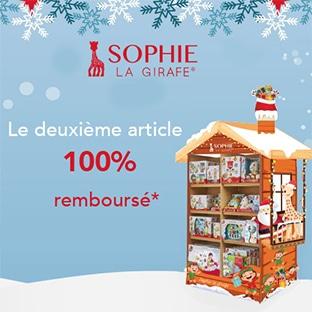 Offre de remboursement Sophie la Girafe : 2 jouets pour le prix d'1
