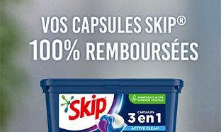 ODR Skip : Capsules de lessive gratuites car 100% remboursées