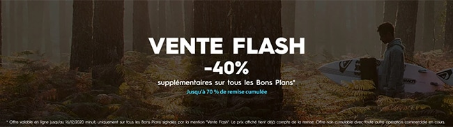 Vente Flash + Bons plans Quiksilver, Roxy et DC Shoes