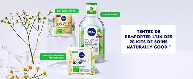 Tentez de remporter votre coffret de 3 soins Naturally Good by Nivea