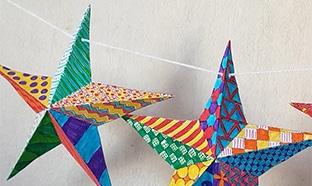 Tuto Noël décoration : Modèle gratuit d'étoile 3D à imprimer