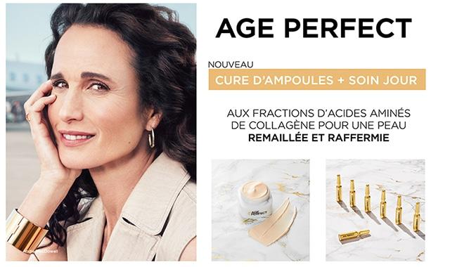 Testez gratuitement la routine de soins Age Perfect Expert Collagène de L'Oréal Paris avec Sampleo