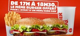Burger King : burger offert pour menu King Size acheté