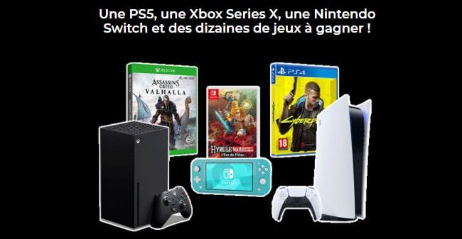 Tentez de remporter pack PS5, Xbox Series X ou Nintendo Switch Lite ou un jeu vidéo avec Game One