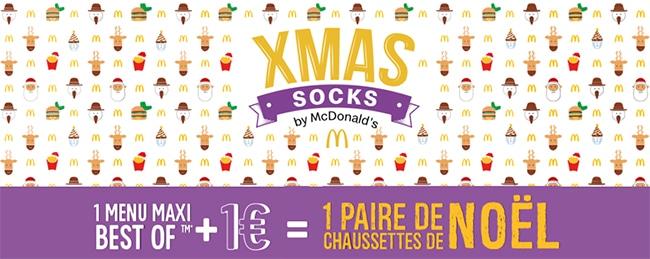Opération Xmas Socks de Noël McDonald's