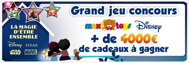 Tentez de gagner votre coffret de jouets Disney avec Maxi Toys