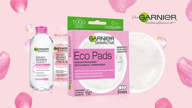 Testez gratuitement la routine Garnier Eco Pads + eau micellaire avec TRND