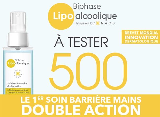 tester gratuitement le soin Biphase Lipo alcoolique Bioderma