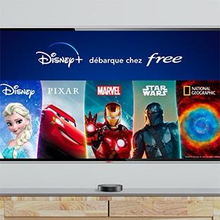Disney+ gratuit Free sur Freebox Pop