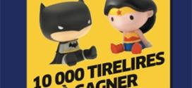 Jeu Rois Brioche Pasquier : Tirelire Wonder Woman et Batman à gagner