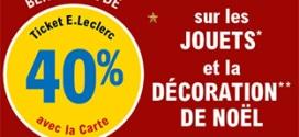 Promo Leclerc : Remise fidélité sur les jouets et la décoration de Noël