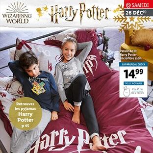 Lidl : Parures de lit et pyjamas Harry Potter pas chers