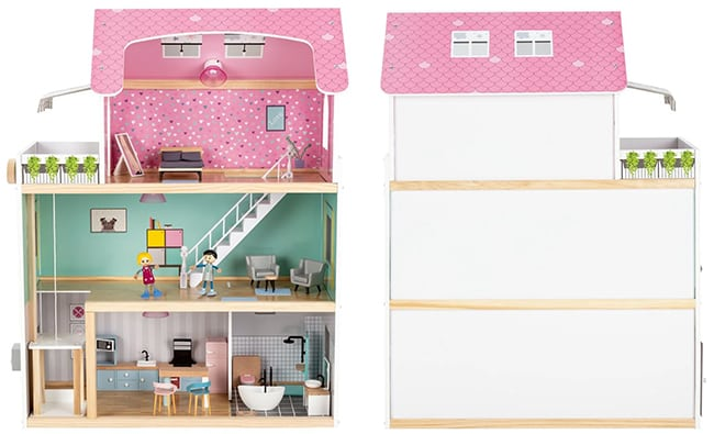 Maison de poupées en bois Playtive Junior + accessoires Lidl