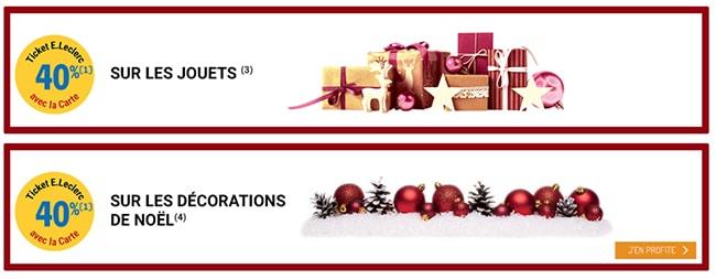 Réaliser 40% d'économies sur les jouets et la décoration de Noël chez Leclerc