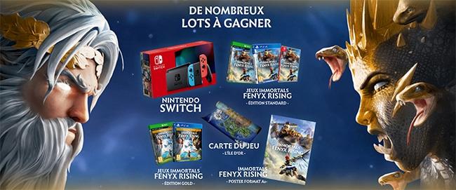 Tentez de gagner une console Switch ou un cadeau Immortals Fenyx Rising avec Fnac