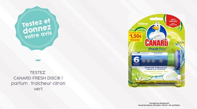 tester gratuitement les disques Canard Fresh Disc Citron Vert