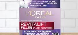 Test Doctissimo : 100 soins jour L'Oréal Revitalift Filler gratuits